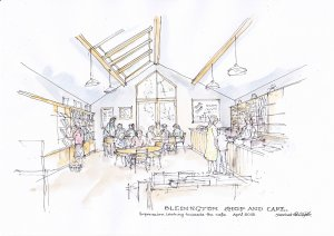 Bledington Community Shop - Artist's Impression