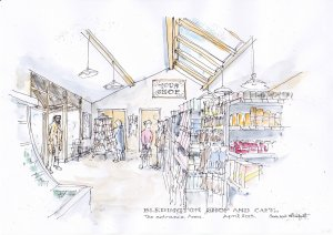 Bledington Community Shop - Artist's Impression